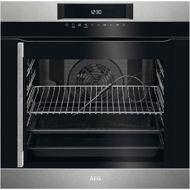 AEG BPK744R21M SenseCook -Built In - Pyrolytic - Electric Single Oven - Stainless Steel -RH Opening