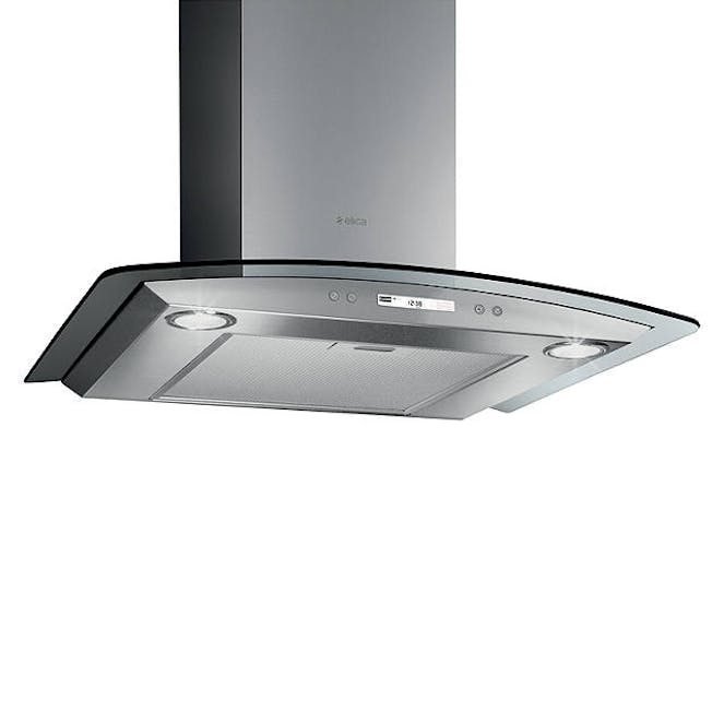 Elica CIRCUS-HE-60 High Performance Curved Glass 60cm Chimney Cooker Hood In Stainless Steel