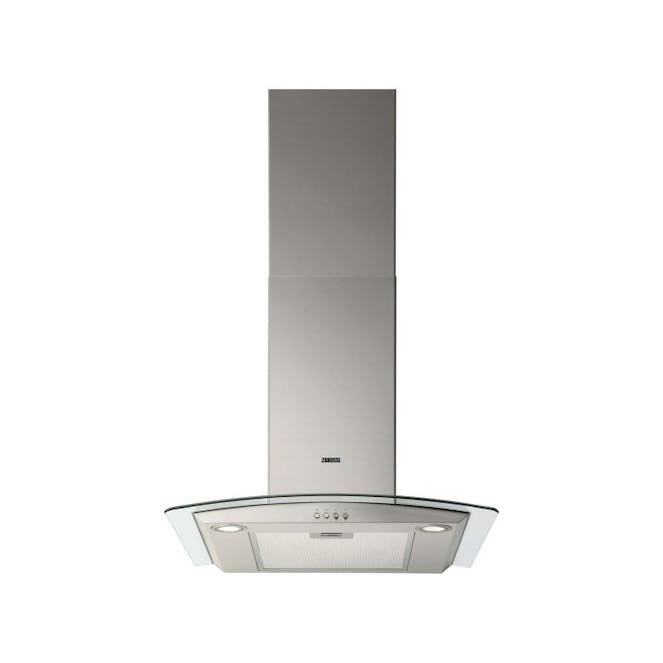 Zanussi ZHC6234X - Curved Glass Canopy - 60cm Chimney Cooker Hood - Stainless Steel