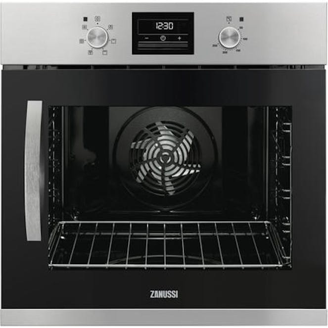 Zanussi ZOA35676XK Side-opening Single Fan Oven With Programmable Timer - Right Hand Hinge - Stainless Steel