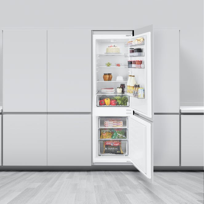 Beko BCNSD180 70/30 Integrated Combi Fridge Freezer - White