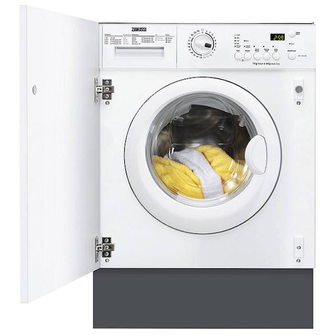 Zanussi ZWT71201WA - 7kg Wash / 4kg Dry - 1200rpm - fully Integrated - Washer Dryer - White