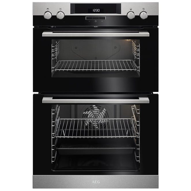 AEG DCK431110M Surroundcook Dual Cavity Oven With Catalytic Cleaning - Stainless Steel