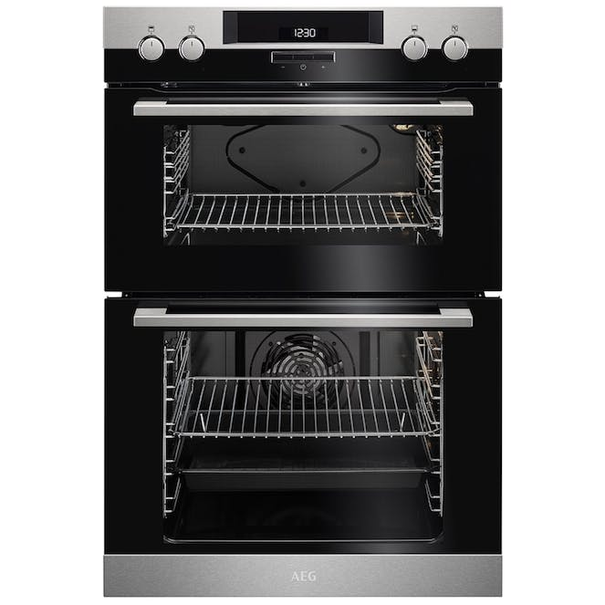 AEG DEK431010M 60cm Surroundcook Multifunction Dual Cavity Oven - Stainless Steel