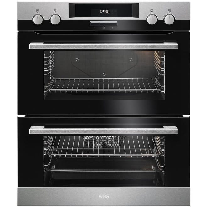 AEG DUK431110M Built Under Multi Function Double Electric Oven - Stainless Steel