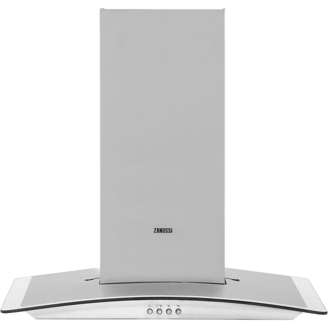 Zanussi ZHC6235X - 60cm Wide - Curved Glass Cooker Hood – In Stainless Steel and Glass